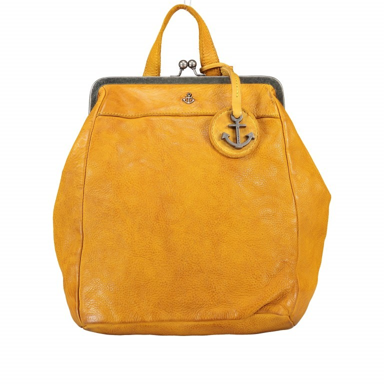 Rucksack Anchor-Love Anouk B3.9290 Oriental Mustard, Farbe: gelb, Marke: Harbour 2nd, EAN: 4046478042230, Abmessungen in cm: 22.0x27.0x9.0, Bild 1 von 8