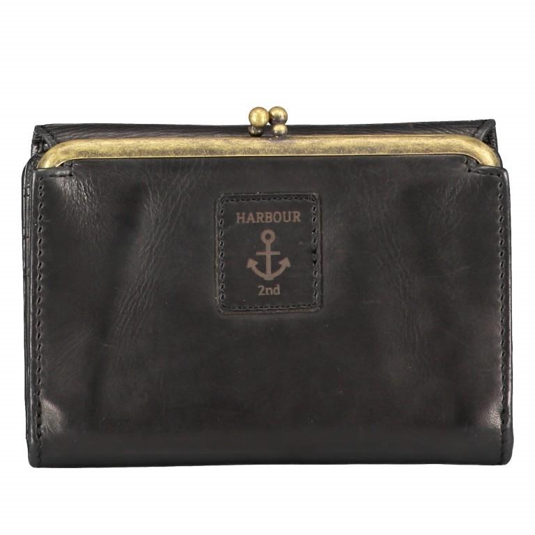 Geldbörse Anchor-Love Cherry B3.1915 mit Knipsverschluss Dark Ash, Farbe: anthrazit, Marke: Harbour 2nd, EAN: 4046478043206, Abmessungen in cm: 14.5x10.5x3.5, Bild 3 von 6