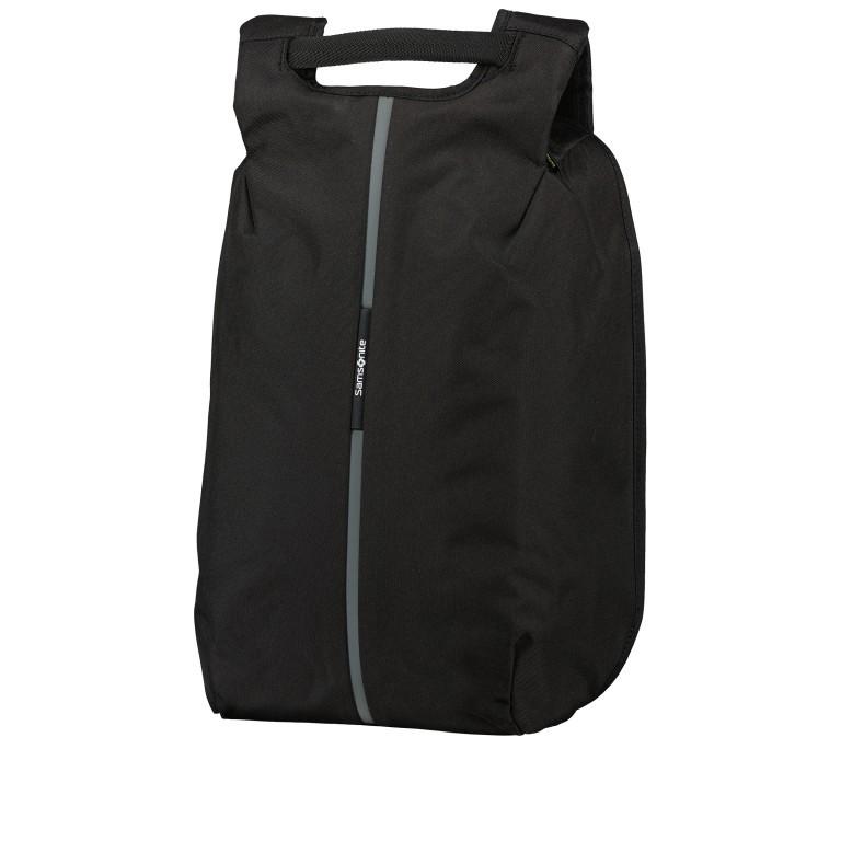 Rucksack Securipak Laptop Backpack 15.6 Zoll mit USB-Anschluss Black Steel, Farbe: schwarz, Marke: Samsonite, EAN: 5400520023094, Abmessungen in cm: 30.0x44.0x16.0, Bild 1 von 11