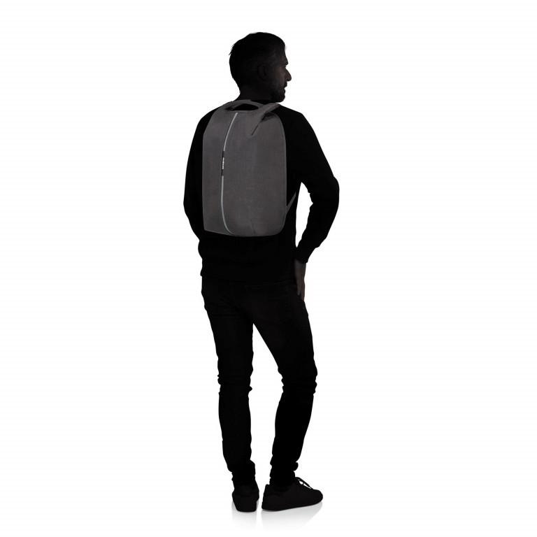Rucksack Securipak Laptop Backpack 15.6 Zoll mit USB-Anschluss Black Steel, Farbe: schwarz, Marke: Samsonite, EAN: 5400520023094, Abmessungen in cm: 30.0x44.0x16.0, Bild 5 von 11