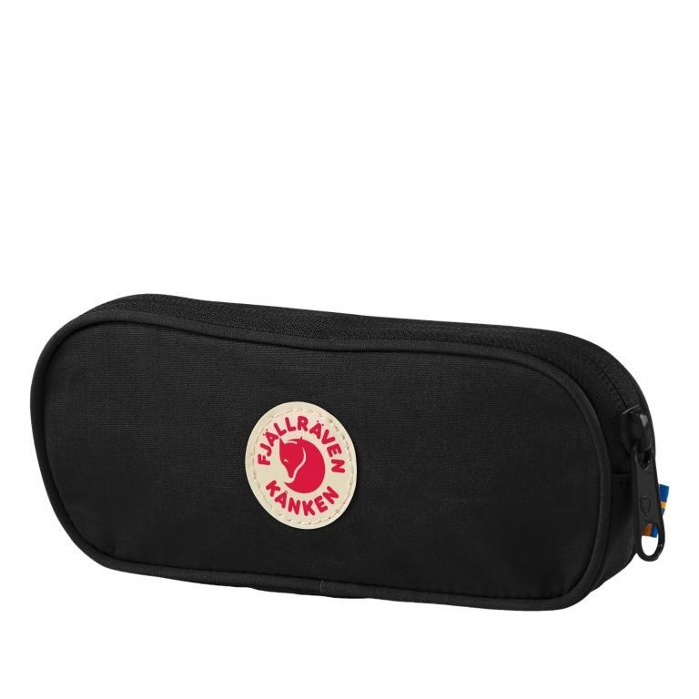 Schlampermäppchen Kånken Pen Case Black, Farbe: schwarz, Marke: Fjällräven, EAN: 7323450464172, Abmessungen in cm: 19.0x7.0x2.0, Bild 1 von 1