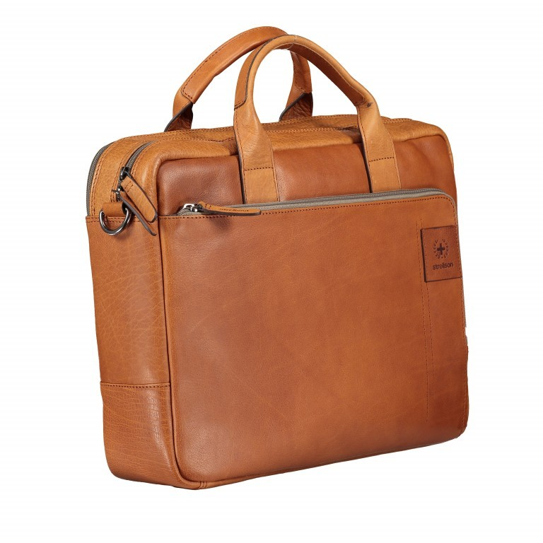 Aktentasche Hyde Park Briefbag SHZ Cognac, Farbe: cognac, Marke: Strellson, EAN: 4053533807741, Abmessungen in cm: 40.0x30.0x10.0, Bild 2 von 13