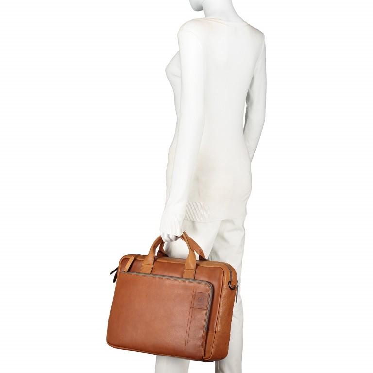 Aktentasche Hyde Park Briefbag SHZ Cognac, Farbe: cognac, Marke: Strellson, EAN: 4053533807741, Abmessungen in cm: 40.0x30.0x10.0, Bild 4 von 13