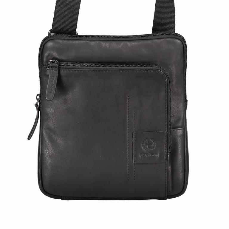 Umhängetasche Hyde Park Shoulderbag XSVZ Black, Farbe: schwarz, Marke: Strellson, EAN: 4053533807857, Abmessungen in cm: 22.0x25.0x4.0, Bild 1 von 7