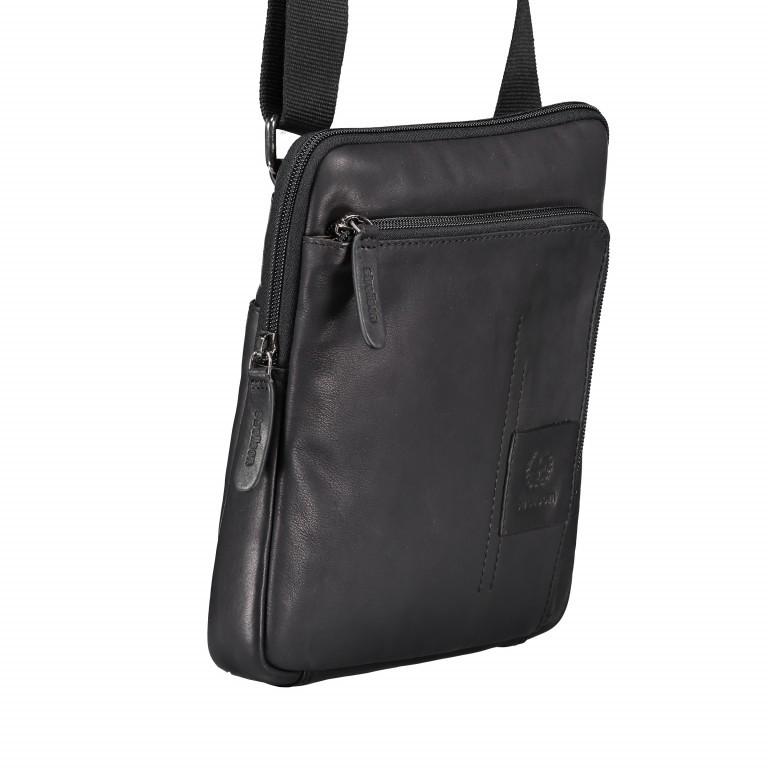 Umhängetasche Hyde Park Shoulderbag XSVZ Black, Farbe: schwarz, Marke: Strellson, EAN: 4053533807857, Abmessungen in cm: 22.0x25.0x4.0, Bild 2 von 7