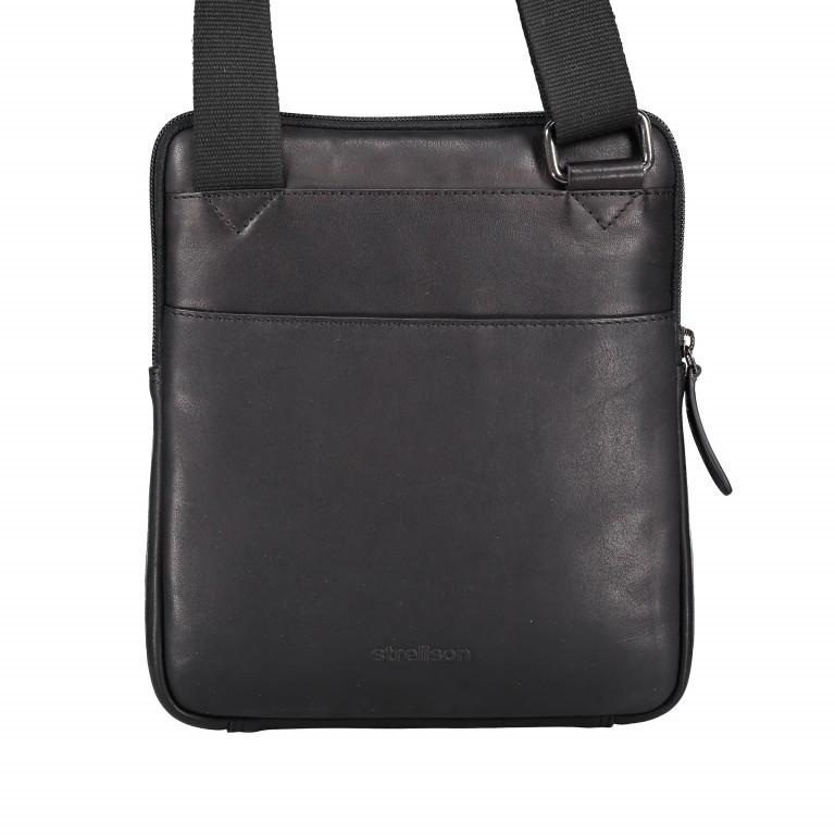 Umhängetasche Hyde Park Shoulderbag XSVZ Black, Farbe: schwarz, Marke: Strellson, EAN: 4053533807857, Abmessungen in cm: 22.0x25.0x4.0, Bild 3 von 7