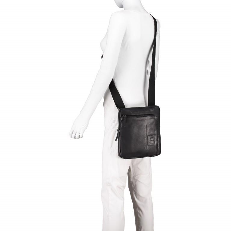 Umhängetasche Hyde Park Shoulderbag XSVZ Black, Farbe: schwarz, Marke: Strellson, EAN: 4053533807857, Abmessungen in cm: 22.0x25.0x4.0, Bild 4 von 7