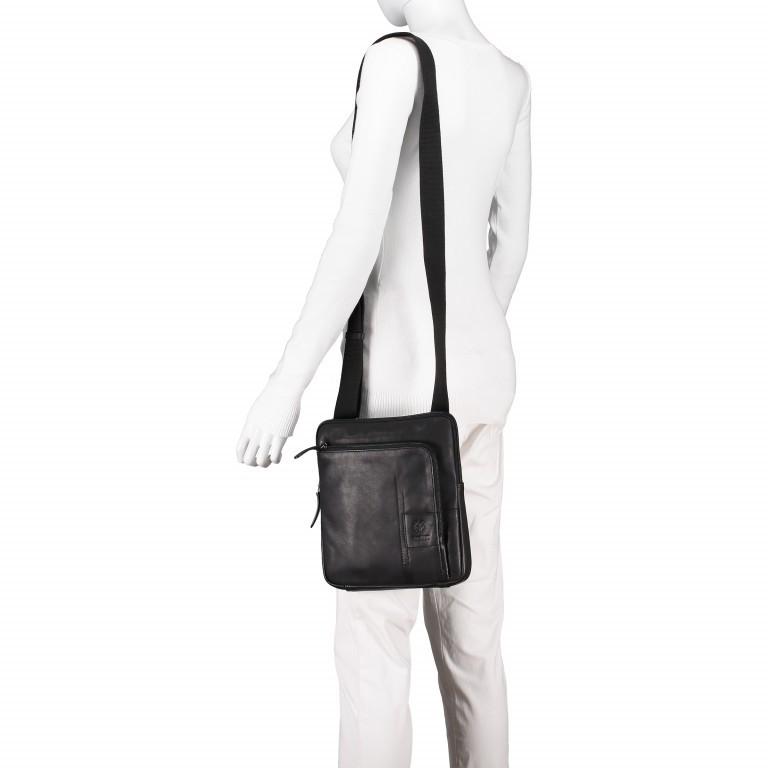 Umhängetasche Hyde Park Shoulderbag XSVZ Black, Farbe: schwarz, Marke: Strellson, EAN: 4053533807857, Abmessungen in cm: 22.0x25.0x4.0, Bild 5 von 7