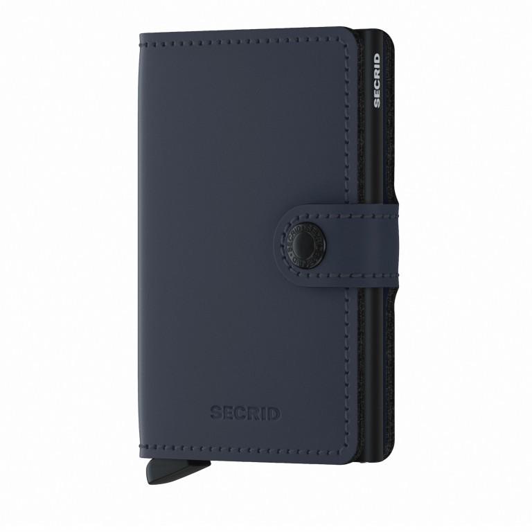 Geldbörse Miniwallet Matte Night Blue, Farbe: blau/petrol, Marke: Secrid, EAN: 8718215287292, Abmessungen in cm: 6.8x10.2x2.1, Bild 1 von 5