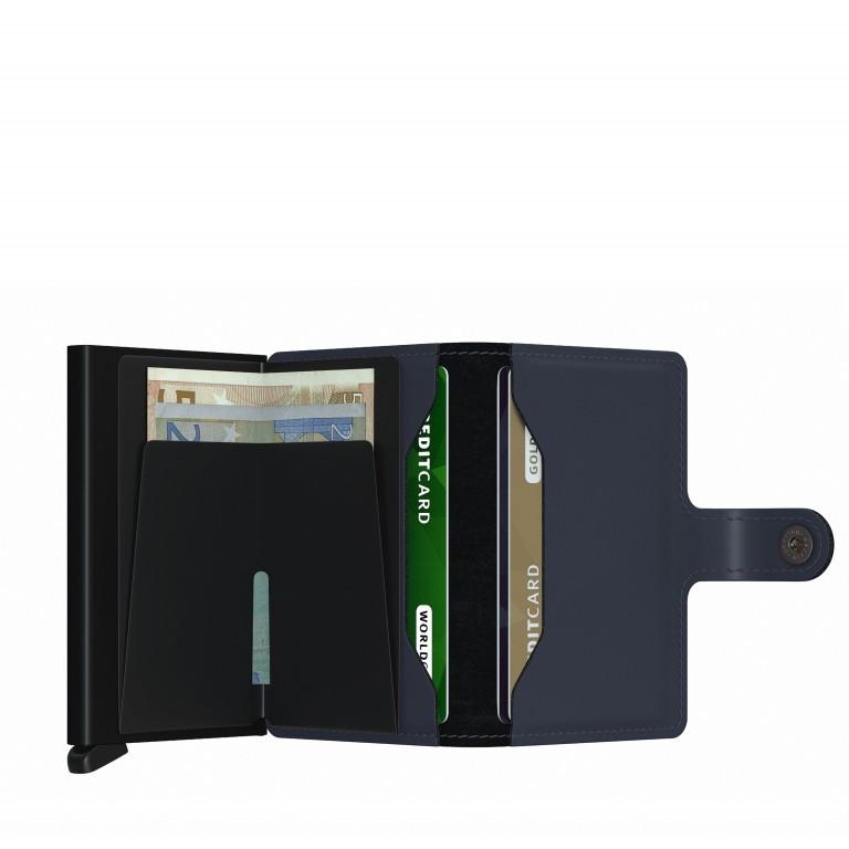 Geldbörse Miniwallet Matte Night Blue, Farbe: blau/petrol, Marke: Secrid, EAN: 8718215287292, Abmessungen in cm: 6.8x10.2x2.1, Bild 3 von 5