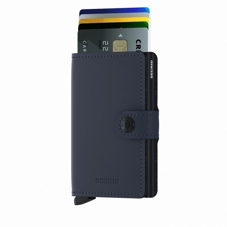 Geldbörse Miniwallet Matte Night Blue, Farbe: blau/petrol, Marke: Secrid, EAN: 8718215287292, Abmessungen in cm: 6.8x10.2x2.1, Bild 5 von 5