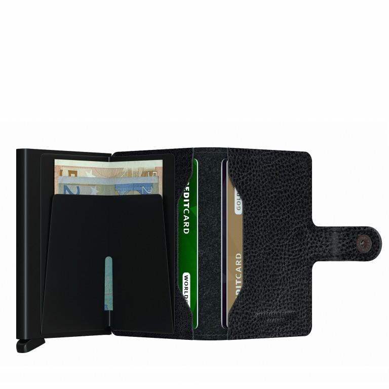 Geldbörse Miniwallet Veg Tanned Black, Farbe: schwarz, Marke: Secrid, EAN: 8718215288145, Abmessungen in cm: 6.8x10.2x2.1, Bild 3 von 5