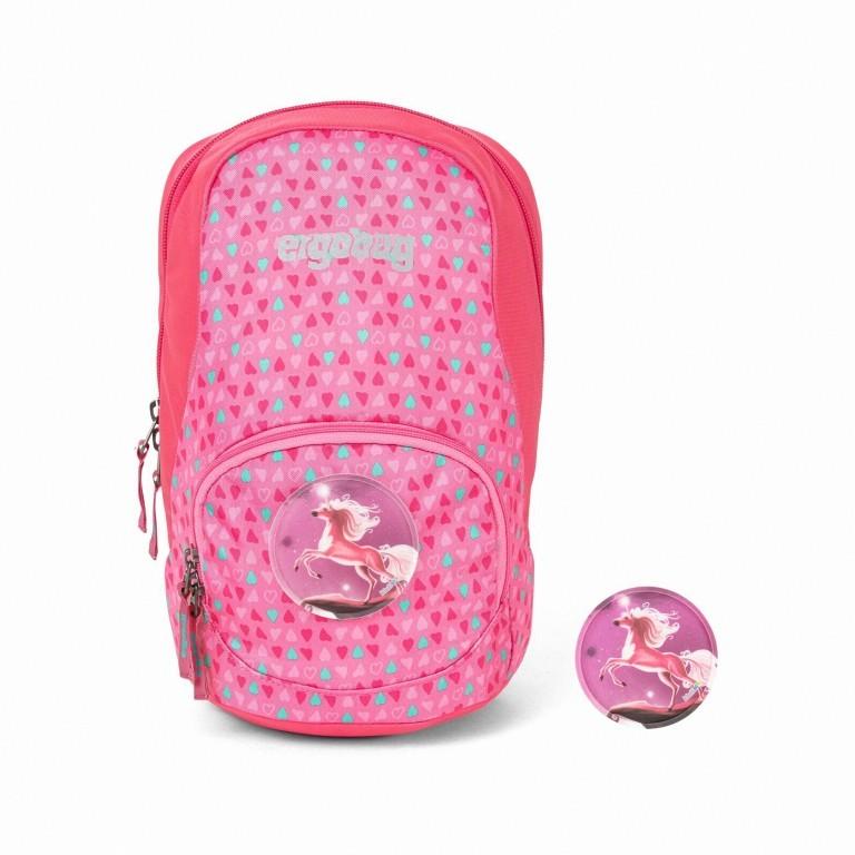 Kinderrucksack Ease Small Bäronika, Farbe: rosa/pink, Marke: Ergobag, EAN: 4057081074082, Abmessungen in cm: 18.5x30.0x18.5, Bild 1 von 5