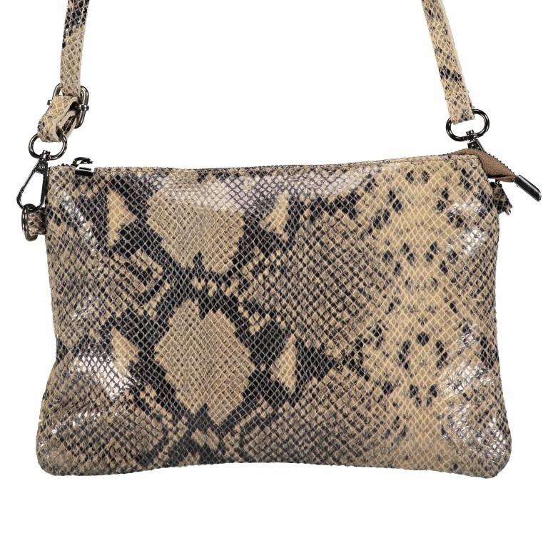 Umhängetasche / Clutch Snake Braun, Farbe: braun, Marke: Hausfelder, EAN: 4065646001725, Abmessungen in cm: 27.0x18.0x1.0, Bild 1 von 10