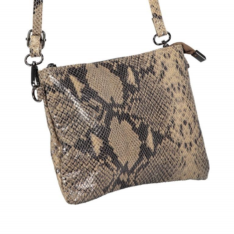 Umhängetasche / Clutch Snake Braun, Farbe: braun, Marke: Hausfelder, EAN: 4065646001725, Abmessungen in cm: 27.0x18.0x1.0, Bild 2 von 10