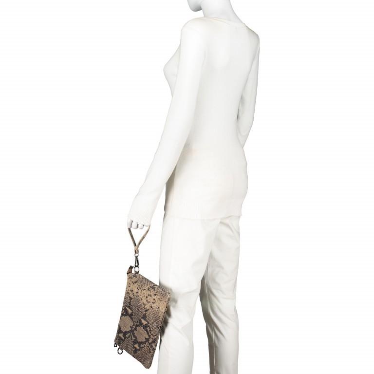Umhängetasche / Clutch Snake Braun, Farbe: braun, Marke: Hausfelder, EAN: 4065646001725, Abmessungen in cm: 27.0x18.0x1.0, Bild 4 von 10