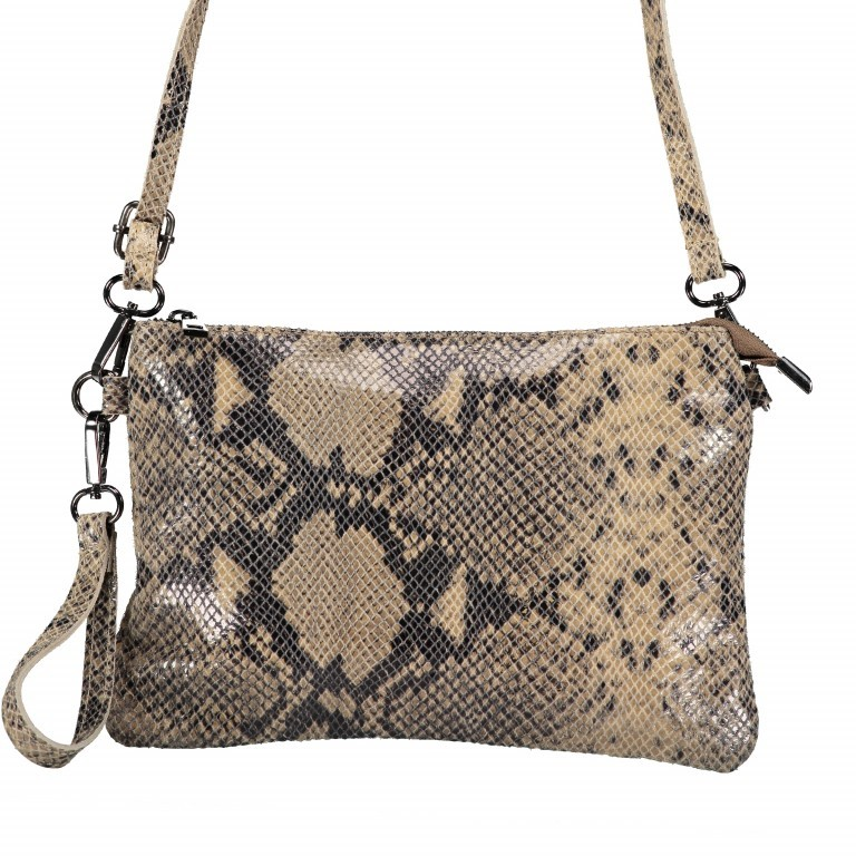 Umhängetasche / Clutch Snake Braun, Farbe: braun, Marke: Hausfelder, EAN: 4065646001725, Abmessungen in cm: 27.0x18.0x1.0, Bild 8 von 10