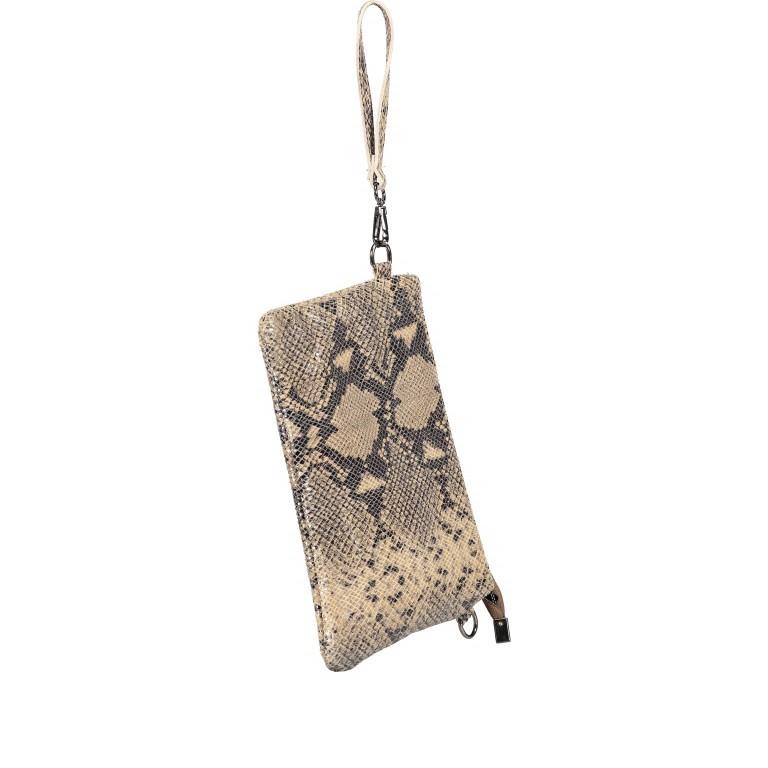 Umhängetasche / Clutch Snake Braun, Farbe: braun, Marke: Hausfelder, EAN: 4065646001725, Abmessungen in cm: 27.0x18.0x1.0, Bild 9 von 10