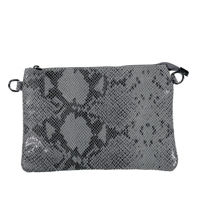 Umhängetasche / Clutch Snake Grau, Farbe: grau, Marke: Hausfelder, EAN: 4065646001732, Abmessungen in cm: 27.0x18.0x1.0, Bild 10 von 10