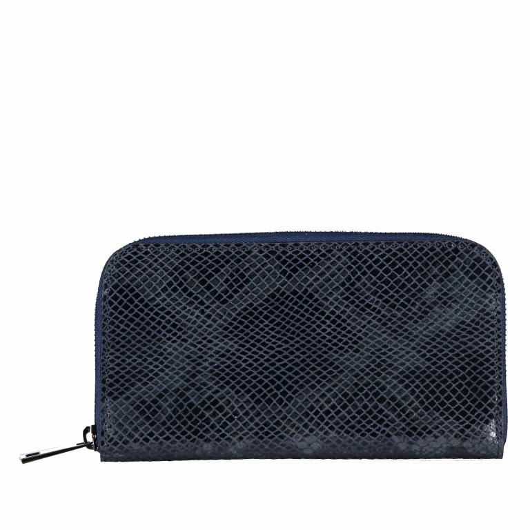 Geldbörse Snake Dunkelblau, Farbe: blau/petrol, Marke: Hausfelder, EAN: 4065646001657, Abmessungen in cm: 20.0x11.0x2.0, Bild 1 von 5