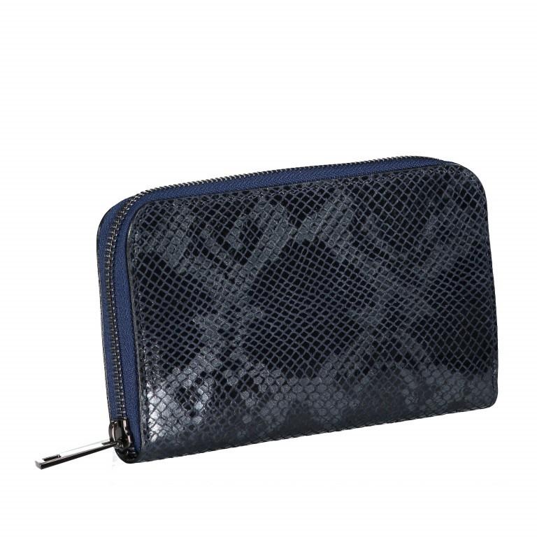 Geldbörse Snake Dunkelblau, Farbe: blau/petrol, Marke: Hausfelder, EAN: 4065646001657, Abmessungen in cm: 20.0x11.0x2.0, Bild 2 von 5