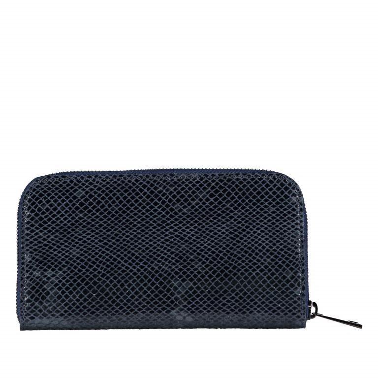 Geldbörse Snake Dunkelblau, Farbe: blau/petrol, Marke: Hausfelder, EAN: 4065646001657, Abmessungen in cm: 20.0x11.0x2.0, Bild 3 von 5