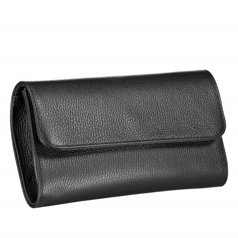 Umhängetasche Dollaro Schwarz, Farbe: schwarz, Marke: Hausfelder, EAN: 4065646001879, Abmessungen in cm: 25.5x14.5x4.5, Bild 2 von 7