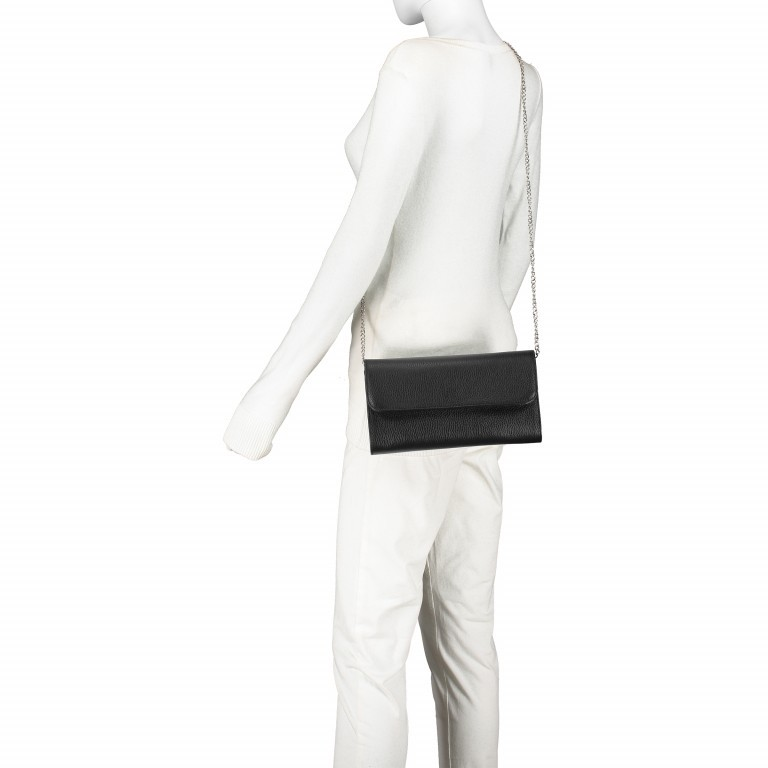 Umhängetasche Dollaro Schwarz, Farbe: schwarz, Marke: Hausfelder, EAN: 4065646001879, Abmessungen in cm: 25.5x14.5x4.5, Bild 4 von 7