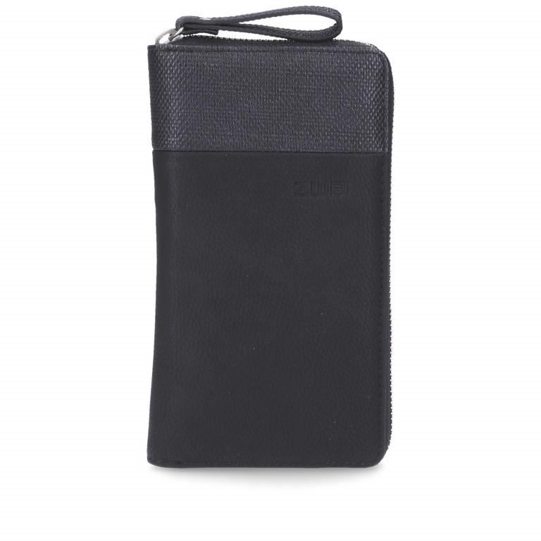 Geldbörse Eva Wallet EV2 Nubuk Black, Farbe: schwarz, Marke: Zwei, EAN: 4250257920934, Abmessungen in cm: 19.0x11.0x3.0, Bild 1 von 6