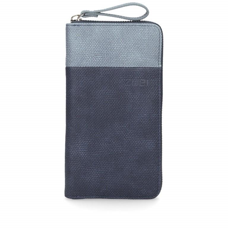 Geldbörse Eva Wallet EV2 Canvas Blue, Farbe: blau/petrol, Marke: Zwei, EAN: 4250257918603, Abmessungen in cm: 19.0x11.0x3.0, Bild 1 von 6
