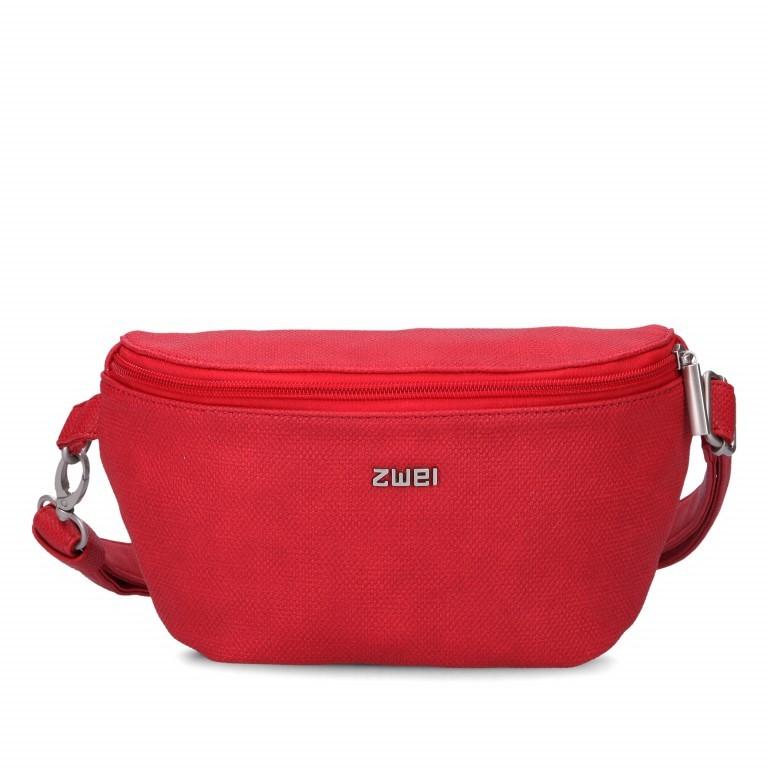 Gürteltasche Mademoiselle MH4 Canvas Red, Farbe: rot/weinrot, Marke: Zwei, EAN: 4250257920507, Abmessungen in cm: 25.0x14.0x6.0, Bild 1 von 7