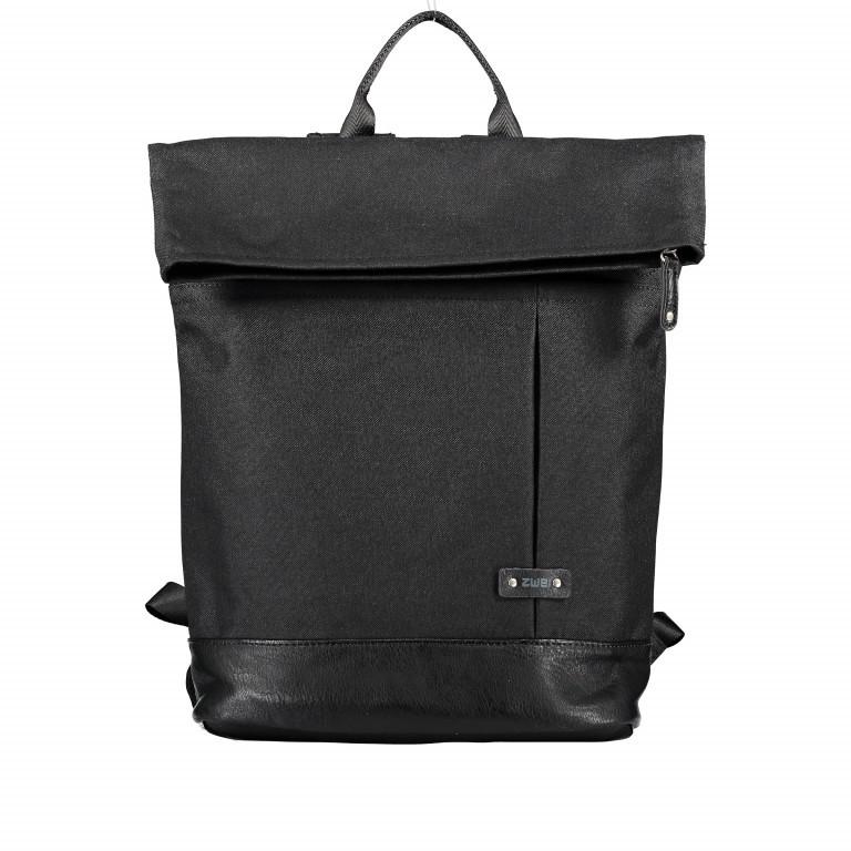 Rucksack Olli O25 Schwarz, Farbe: schwarz, Marke: Zwei, EAN: 4250257921603, Abmessungen in cm: 37.0x41.0x18.0, Bild 1 von 4