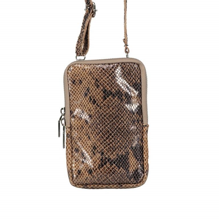 Handytasche Snake mit Schulterriemen Taupe, Farbe: taupe/khaki, Marke: Hausfelder, EAN: 4065646001510, Abmessungen in cm: 11.0x17.5x2.0, Bild 1 von 7