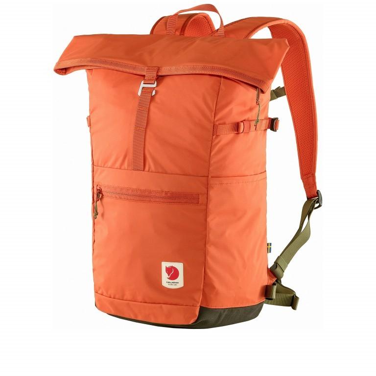 Rucksack High Coast Foldsack Volumen 24 Liter Rowan Red, Farbe: orange, Marke: Fjällräven, EAN: 7323450598174, Abmessungen in cm: 26.0x45.0x20.0, Bild 1 von 10