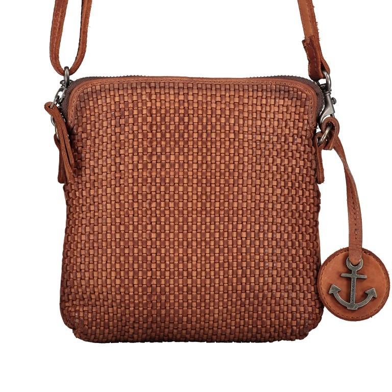 Umhängetasche Soft-Weaving Thelma B3.9786 Charming Cognac, Farbe: cognac, Marke: Harbour 2nd, EAN: 4046478044319, Abmessungen in cm: 19.5x20.0x3.0, Bild 1 von 6