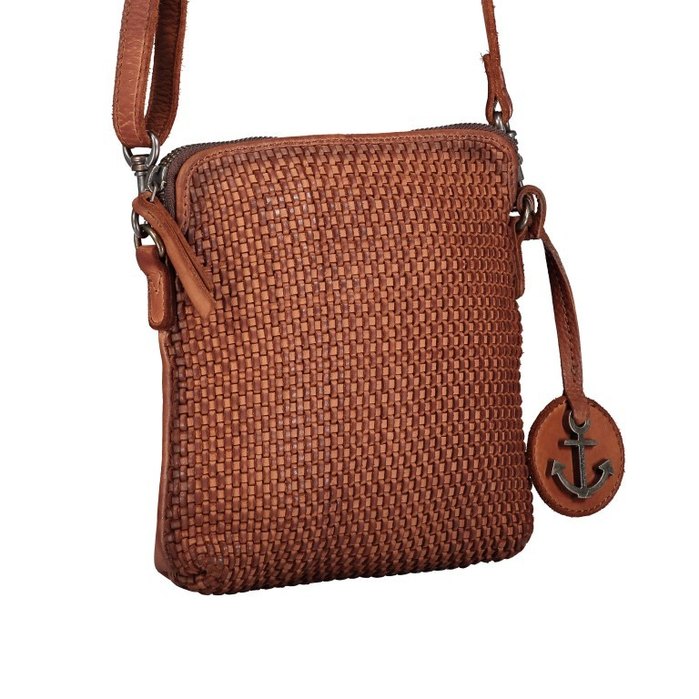 Umhängetasche Soft-Weaving Thelma B3.9786 Charming Cognac, Farbe: cognac, Marke: Harbour 2nd, EAN: 4046478044319, Abmessungen in cm: 19.5x20.0x3.0, Bild 2 von 6