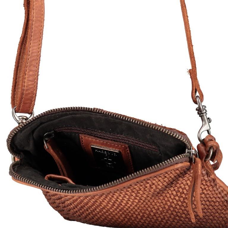 Umhängetasche Soft-Weaving Thelma B3.9786 Charming Cognac, Farbe: cognac, Marke: Harbour 2nd, EAN: 4046478044319, Abmessungen in cm: 19.5x20.0x3.0, Bild 6 von 6