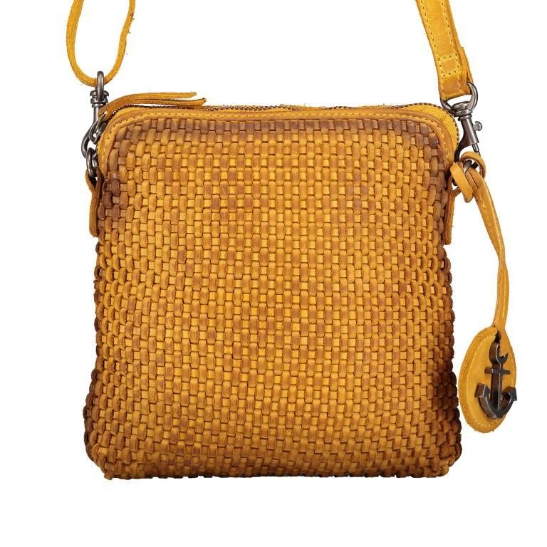 Umhängetasche Soft-Weaving Thelma B3.9786 Oriental Mustard, Farbe: gelb, Marke: Harbour 2nd, EAN: 4046478044333, Abmessungen in cm: 19.5x20.0x3.0, Bild 1 von 6