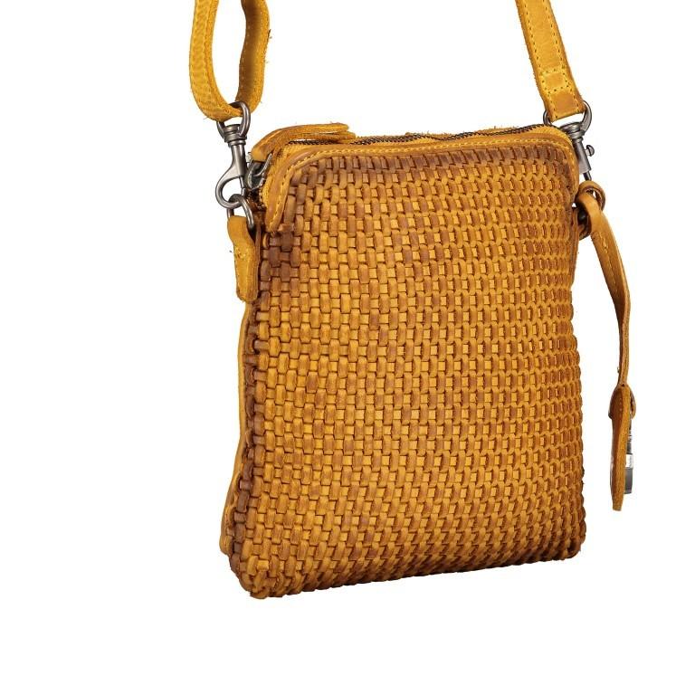 Umhängetasche Soft-Weaving Thelma B3.9786 Oriental Mustard, Farbe: gelb, Marke: Harbour 2nd, EAN: 4046478044333, Abmessungen in cm: 19.5x20.0x3.0, Bild 2 von 6