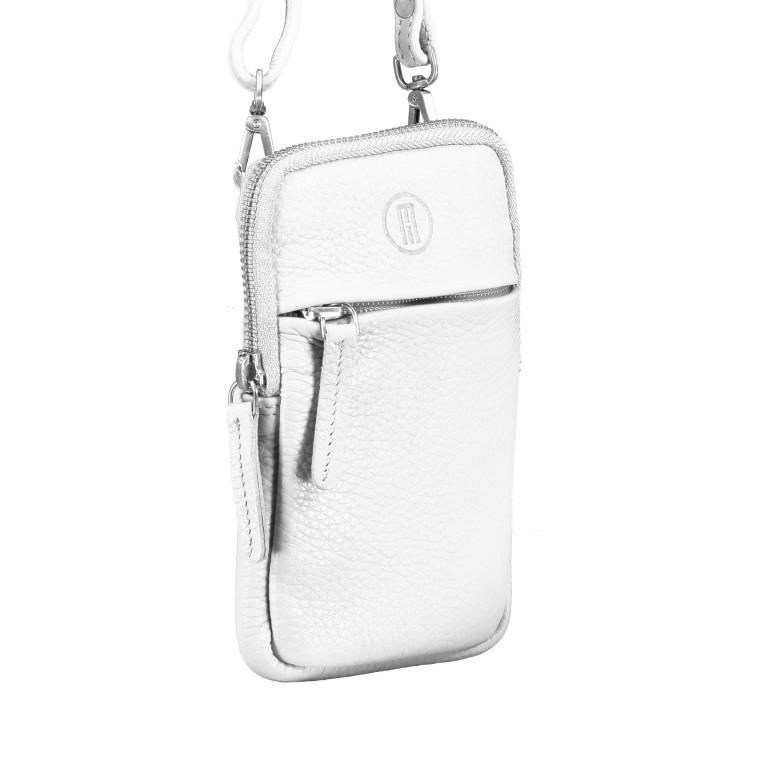 Handytasche Nappa mit Schulterriemen Weiß, Farbe: weiß, Marke: Hausfelder, EAN: 4251672798603, Abmessungen in cm: 10.0x17.0x1.5, Bild 2 von 7