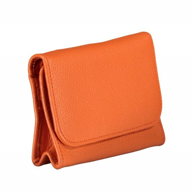 Kosmetiketui Nappa Orange, Farbe: orange, Marke: Hausfelder, EAN: 4251672755439, Abmessungen in cm: 15.5x10.0x3.5, Bild 2 von 5