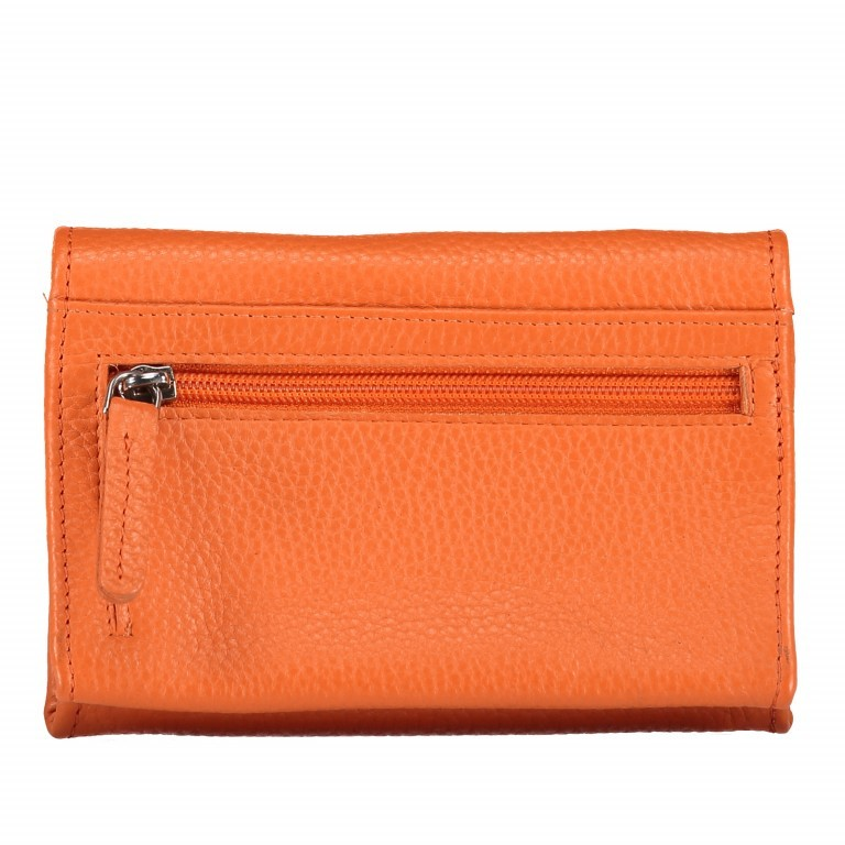 Kosmetiketui Nappa Orange, Farbe: orange, Marke: Hausfelder, EAN: 4251672755439, Abmessungen in cm: 15.5x10.0x3.5, Bild 3 von 5