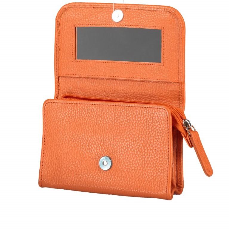 Kosmetiketui Nappa Orange, Farbe: orange, Marke: Hausfelder, EAN: 4251672755439, Abmessungen in cm: 15.5x10.0x3.5, Bild 4 von 5