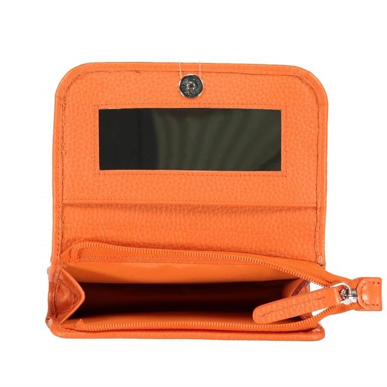 Kosmetiketui Nappa Orange, Farbe: orange, Marke: Hausfelder, EAN: 4251672755439, Abmessungen in cm: 15.5x10.0x3.5, Bild 5 von 5