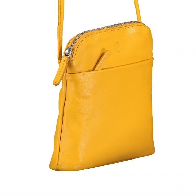 Umhängetasche Milano Karen Gelb, Farbe: gelb, Marke: Hausfelder, EAN: 4251672756061, Abmessungen in cm: 19.0x22.0x5.0, Bild 2 von 6