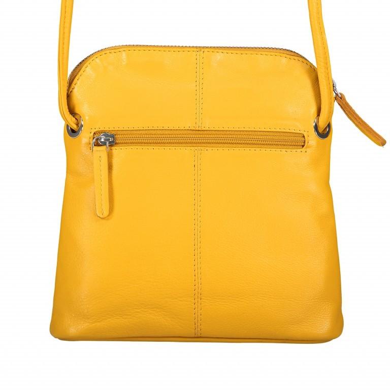 Umhängetasche Milano Karen Gelb, Farbe: gelb, Marke: Hausfelder, EAN: 4251672756061, Abmessungen in cm: 19.0x22.0x5.0, Bild 3 von 6