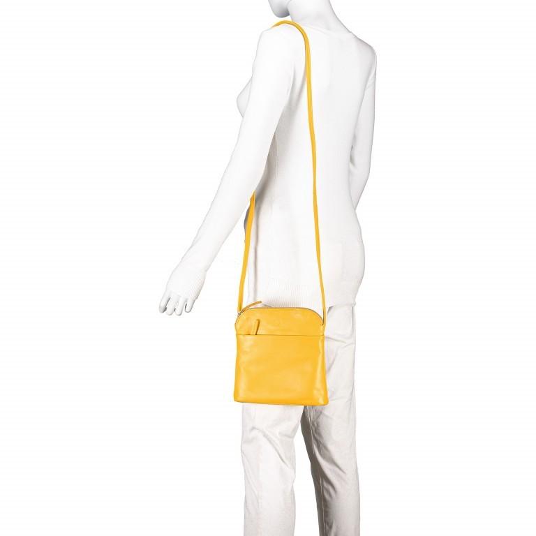 Umhängetasche Milano Karen Gelb, Farbe: gelb, Marke: Hausfelder, EAN: 4251672756061, Abmessungen in cm: 19.0x22.0x5.0, Bild 4 von 6