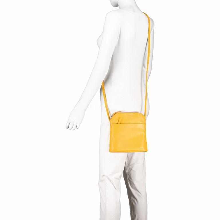 Umhängetasche Milano Karen Gelb, Farbe: gelb, Marke: Hausfelder, EAN: 4251672756061, Abmessungen in cm: 19.0x22.0x5.0, Bild 5 von 6