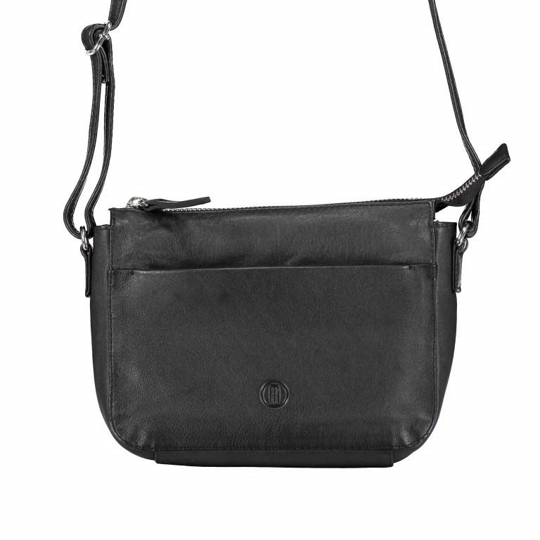 Umhängetasche Milano Schwarz, Farbe: schwarz, Marke: Hausfelder, EAN: 4251672755934, Abmessungen in cm: 18.0x15.0x6.0, Bild 1 von 6