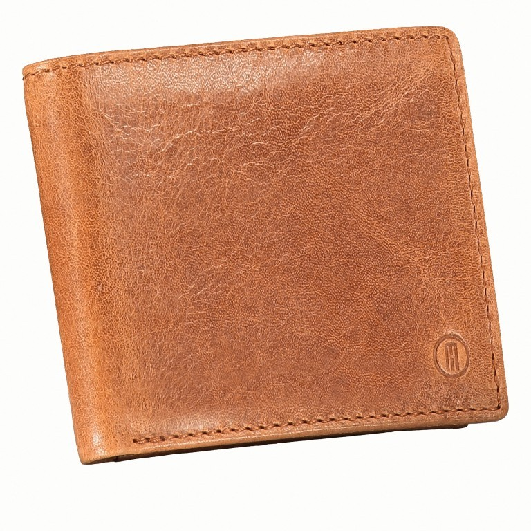 Geldbörse Amra Folkland Cognac, Farbe: cognac, Marke: Hausfelder, EAN: 4251672750014, Abmessungen in cm: 11.0x9.5x2.0, Bild 2 von 5